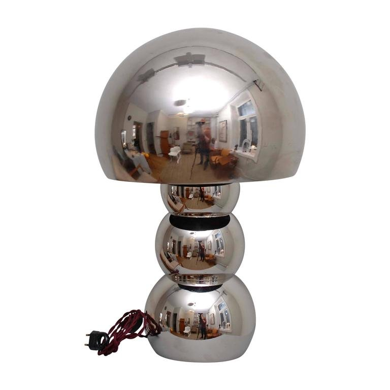 space age lamp in chrome alloy 1970s for sale at pamono. Black Bedroom Furniture Sets. Home Design Ideas