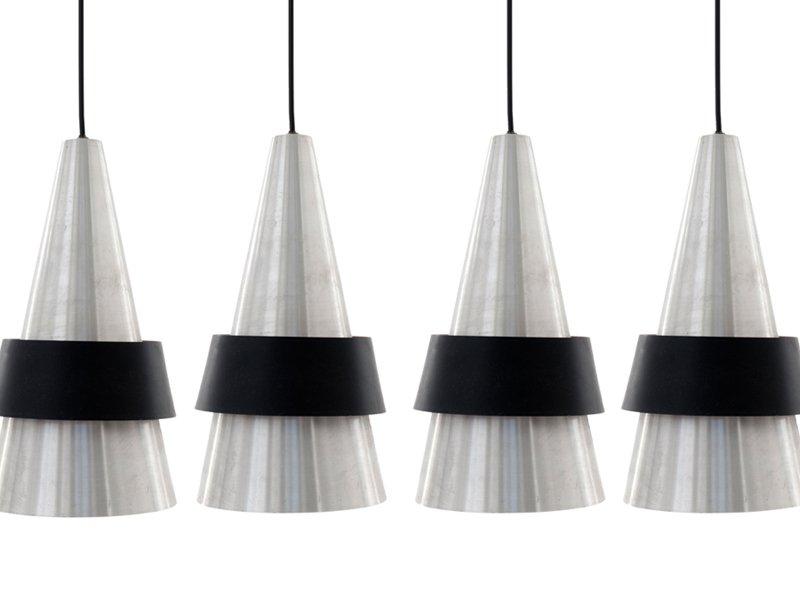 Corona Pendant Lamp in Polished Metal by Jo Hammerborg for Fog & Mørup...
