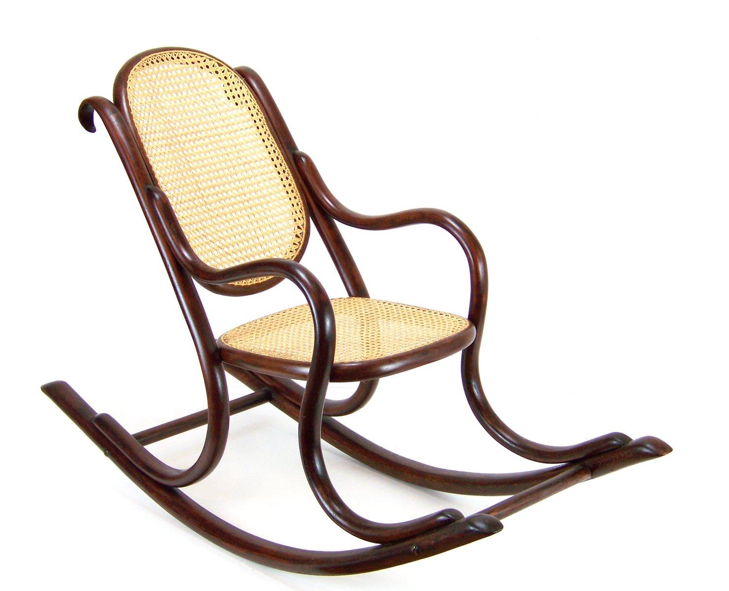 chaise a bascule pour enfant number 2 de fischel 1890s en. Black Bedroom Furniture Sets. Home Design Ideas