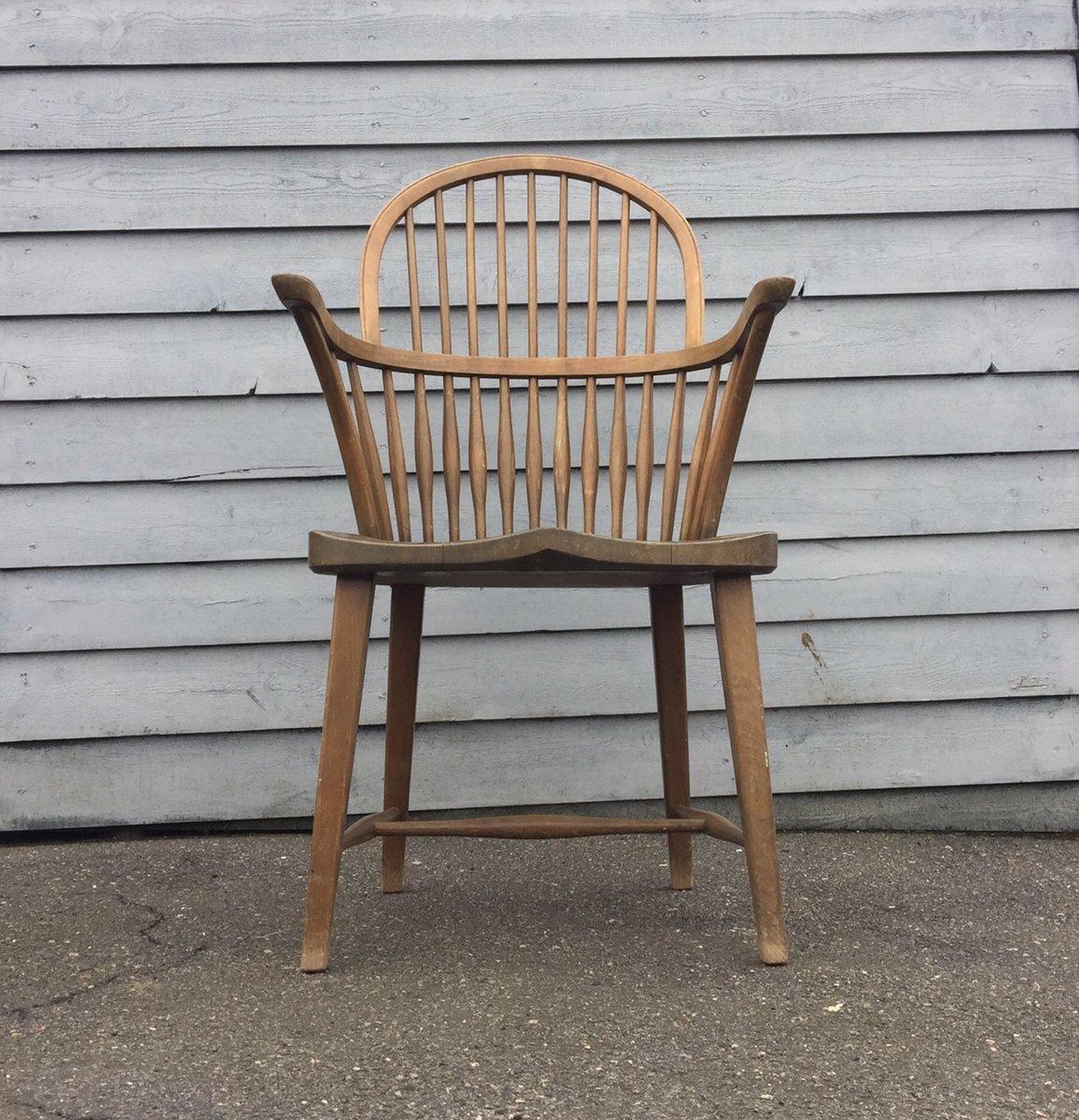 Ch 18a windsor eichenholz stuhl mit hoher r ckenlehne von frits henningsen f r carl hansen s n - Windsor stuhl ...