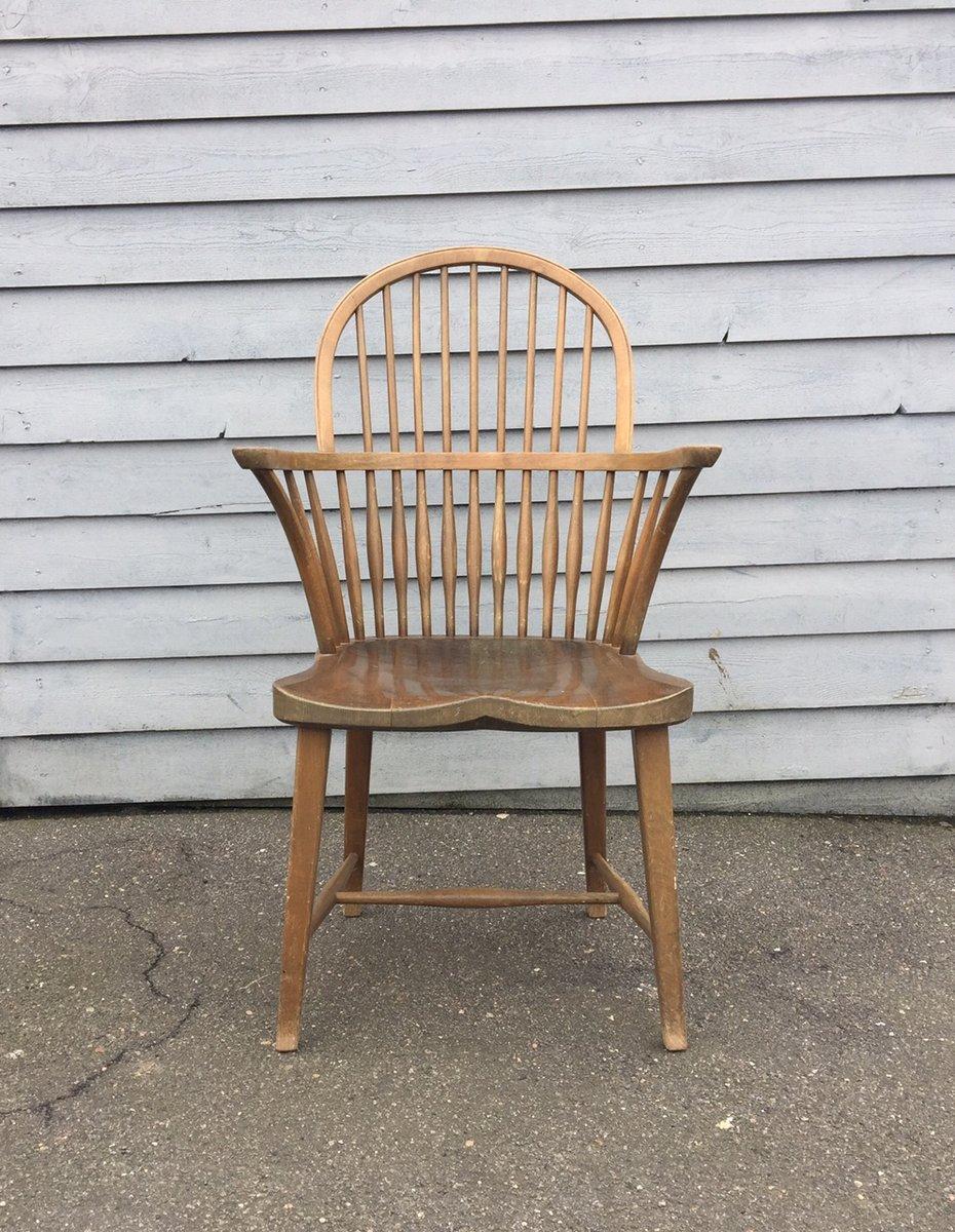 ch 18a windsor eichenholz stuhl mit hoher r ckenlehne von frits henningsen f r carl hansen s n. Black Bedroom Furniture Sets. Home Design Ideas