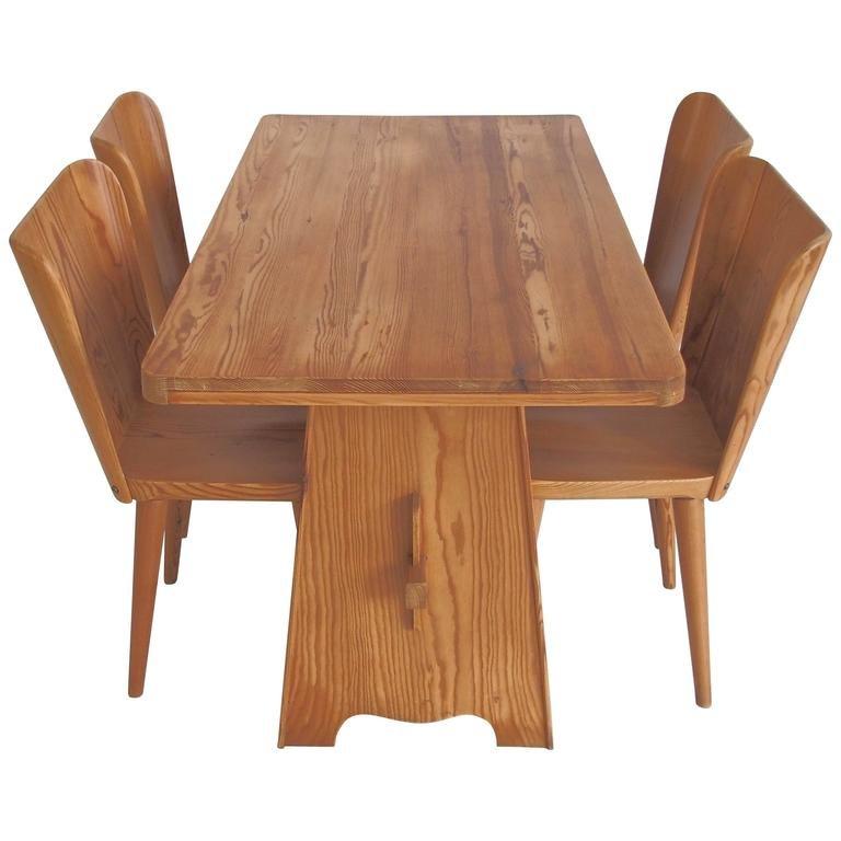 Esstisch mit Vier Stühlen von Göran Malmvall für Karl Andersson & Söne...