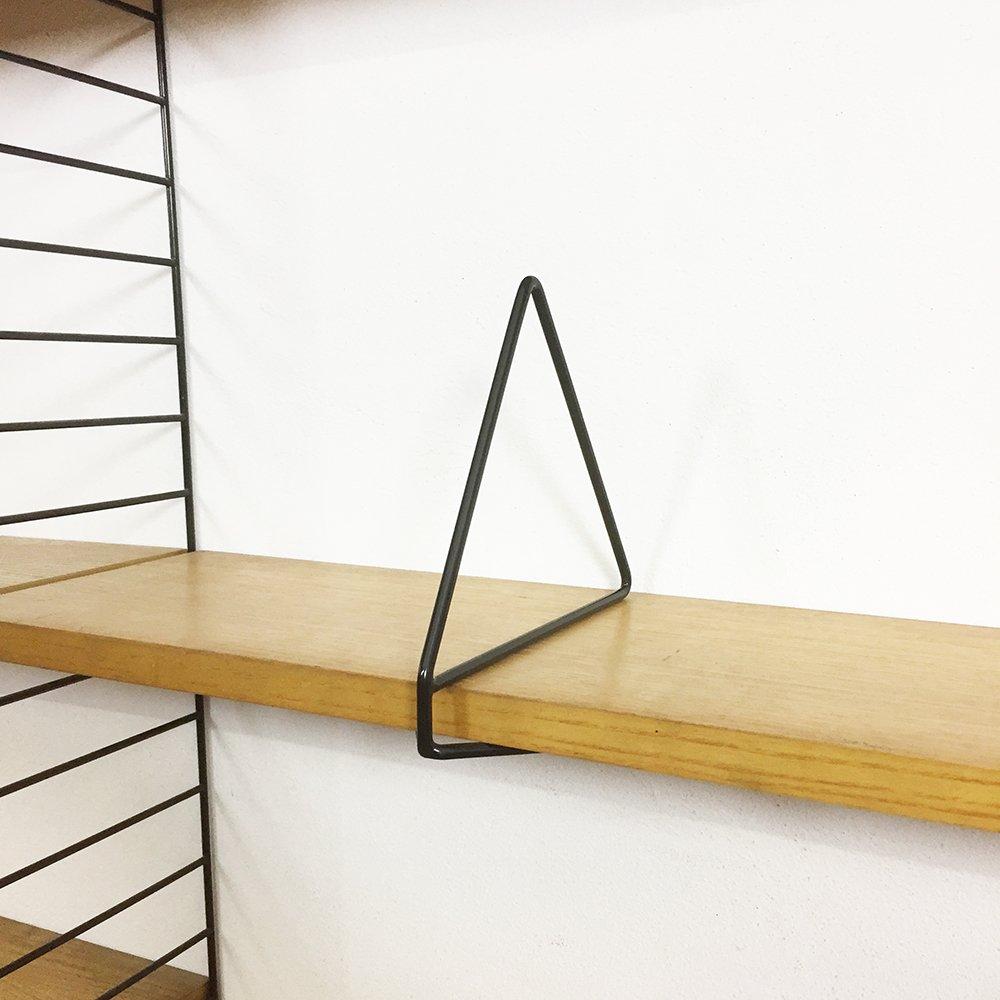 serre livres pour etag re murale string par nisse strinning 1960s en vente sur pamono. Black Bedroom Furniture Sets. Home Design Ideas