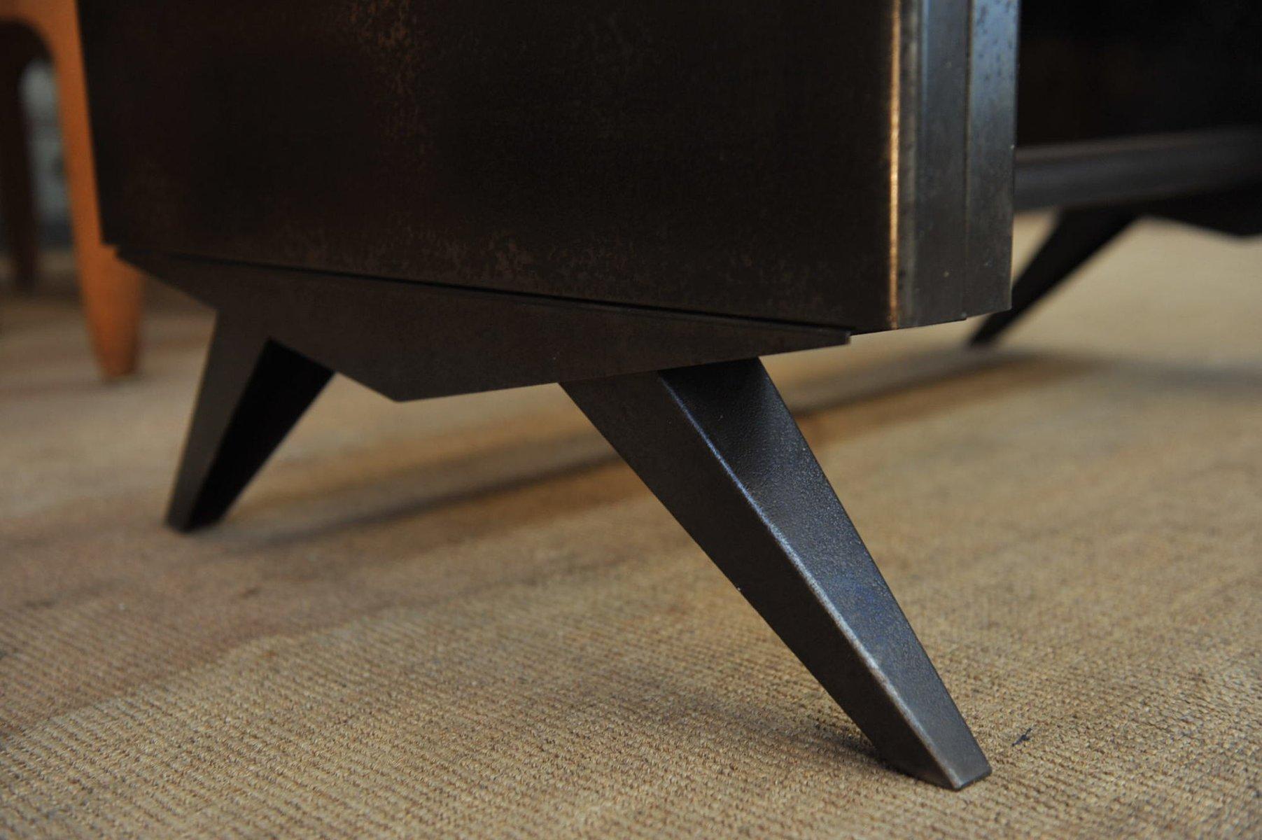 kleiner industrieller metall schreibtisch 1950er bei pamono kaufen. Black Bedroom Furniture Sets. Home Design Ideas