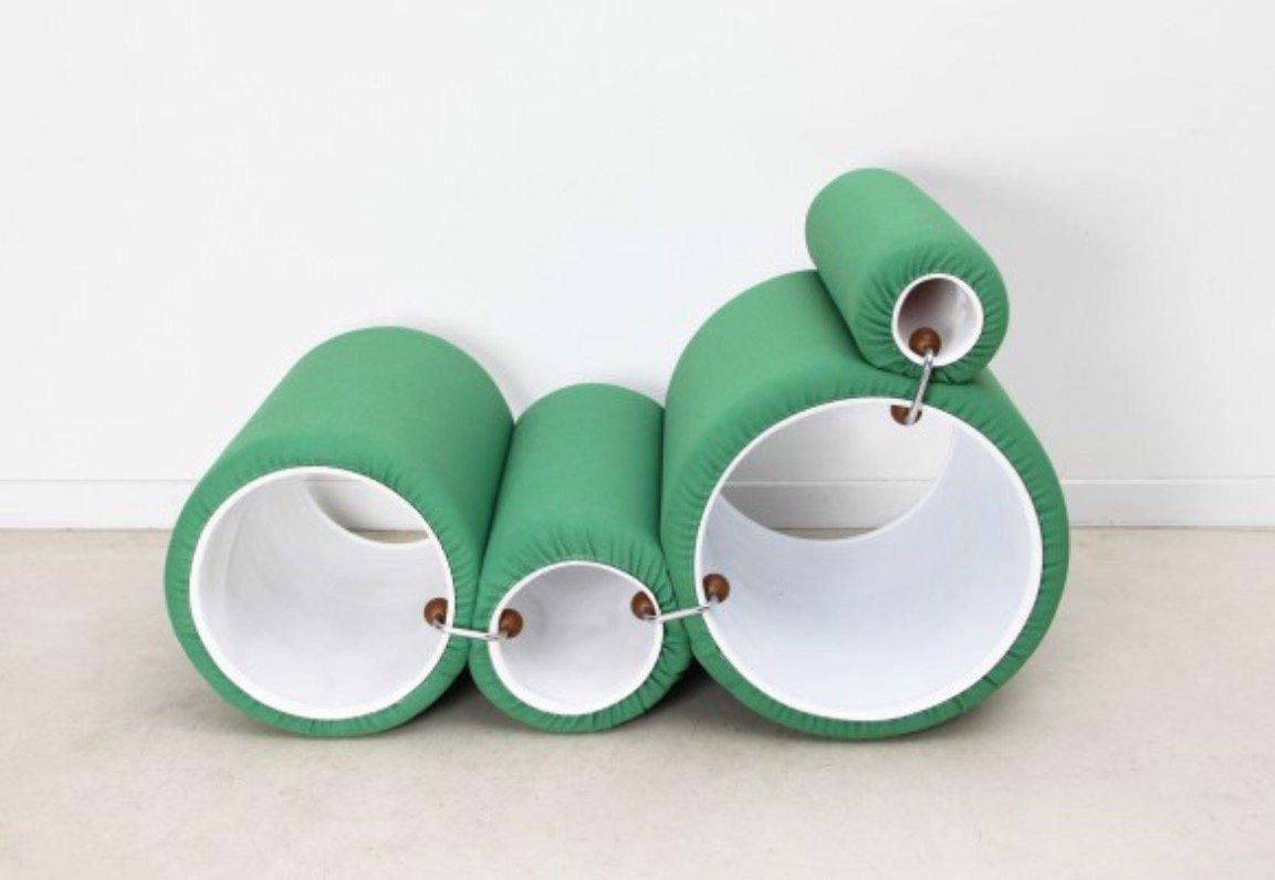 Grüner Vintage Lounge Sessel von Joe Colombo