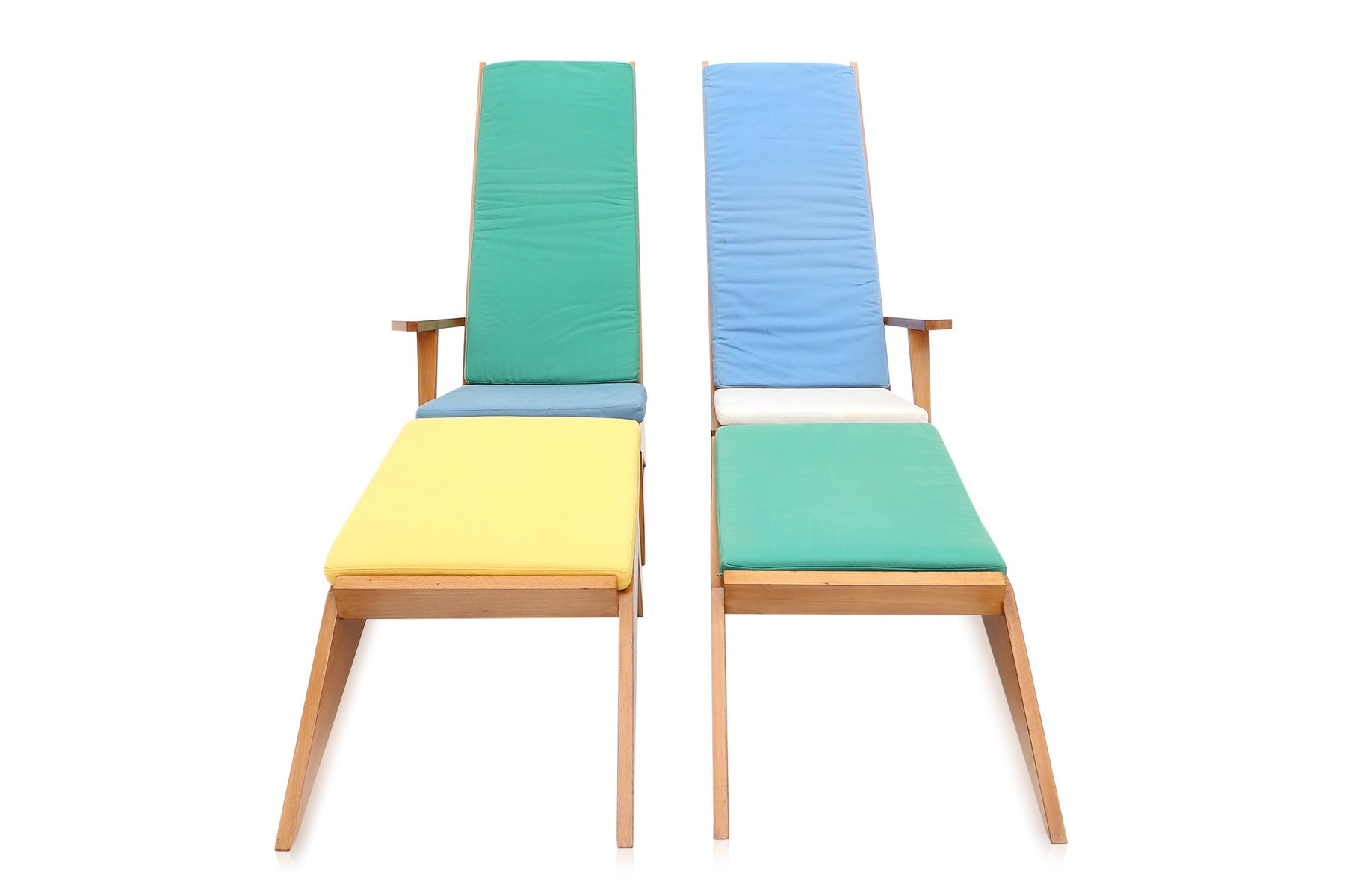Vintage italian swimming pool lounge chairs 1970s for for Pool design 1970
