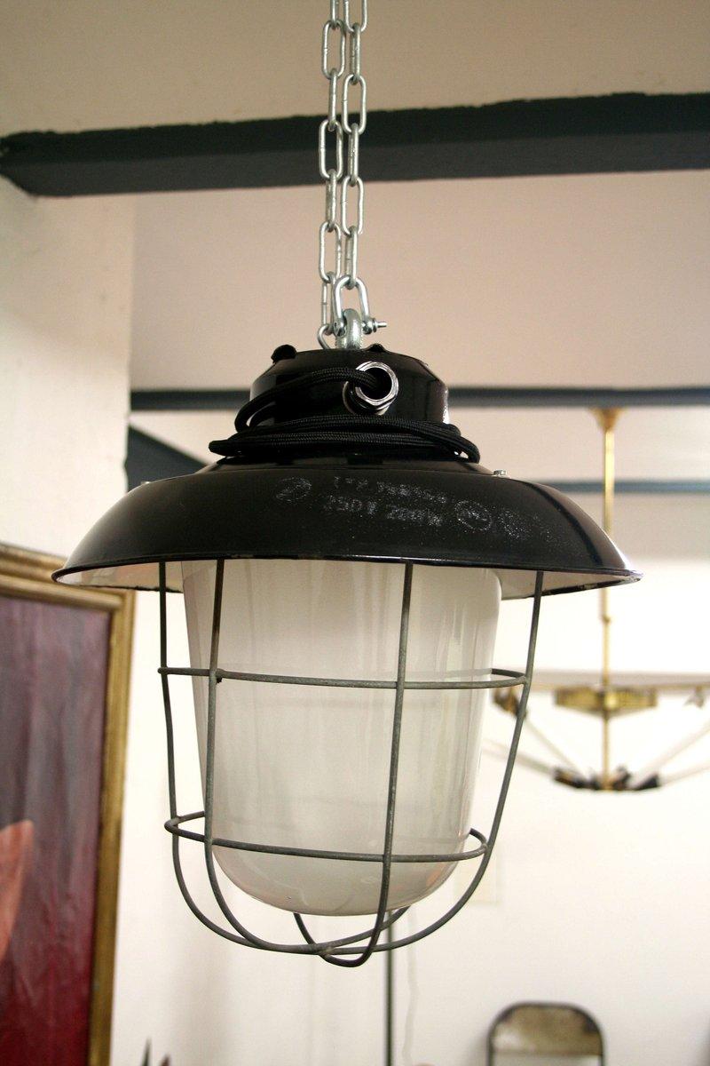 lampe bunker vintage industrielle r publique tch que en vente sur pamono. Black Bedroom Furniture Sets. Home Design Ideas