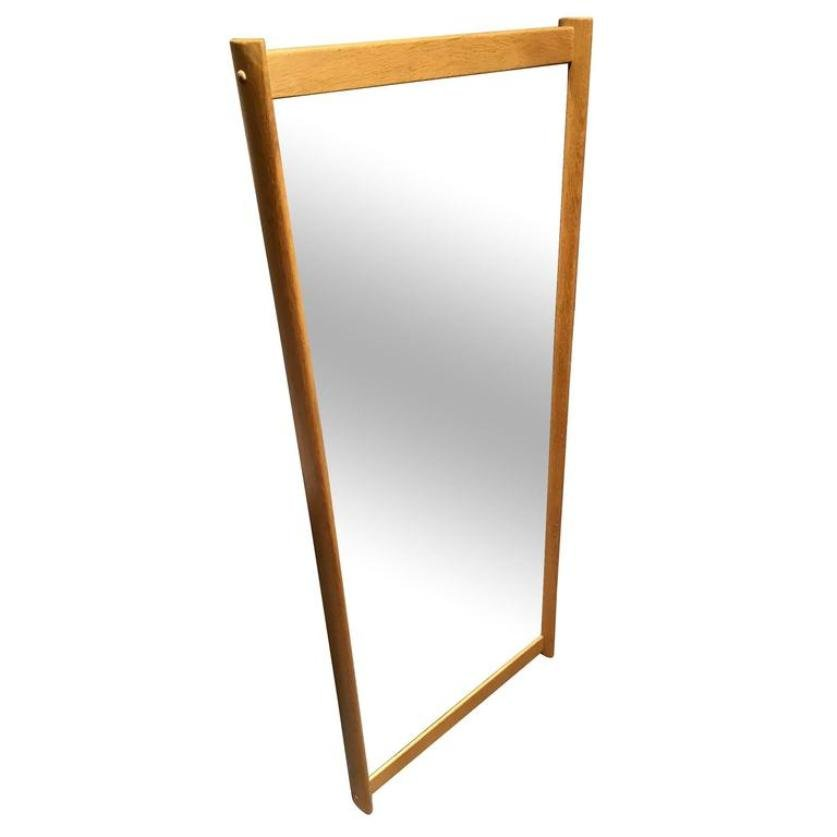 Wall Mirror with Oak Frame by Aksel Kjersgaard for sale at Pamono
