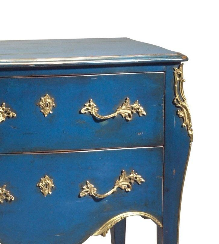 Blaue Franzosische Vintage Kommode Bei Pamono Kaufen