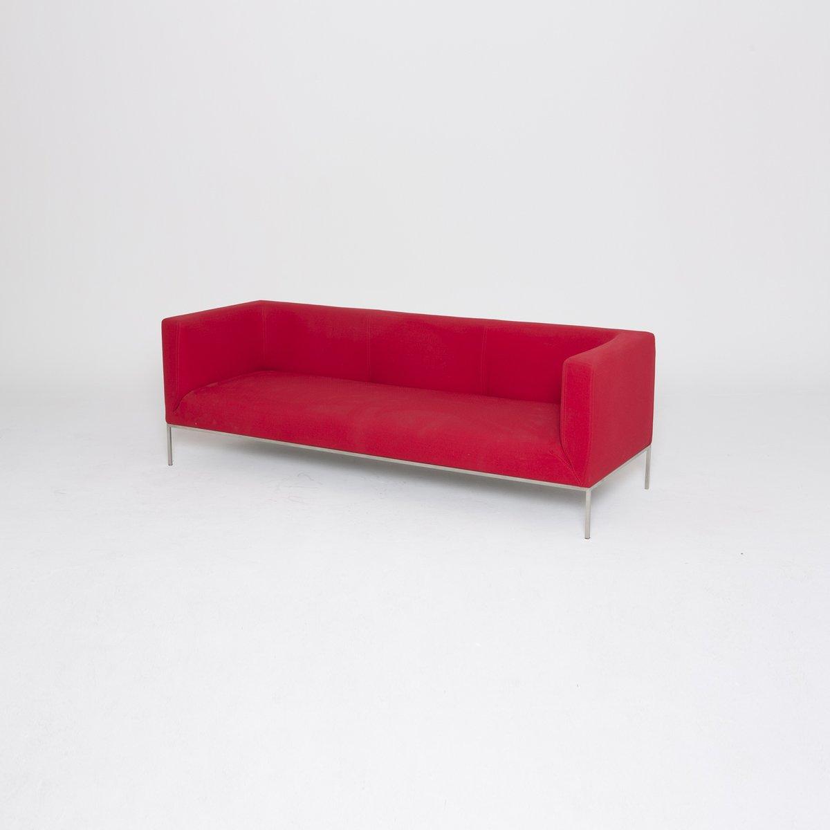 Rotes Drei-Sitzer Sofa von Marco Maran für Parri