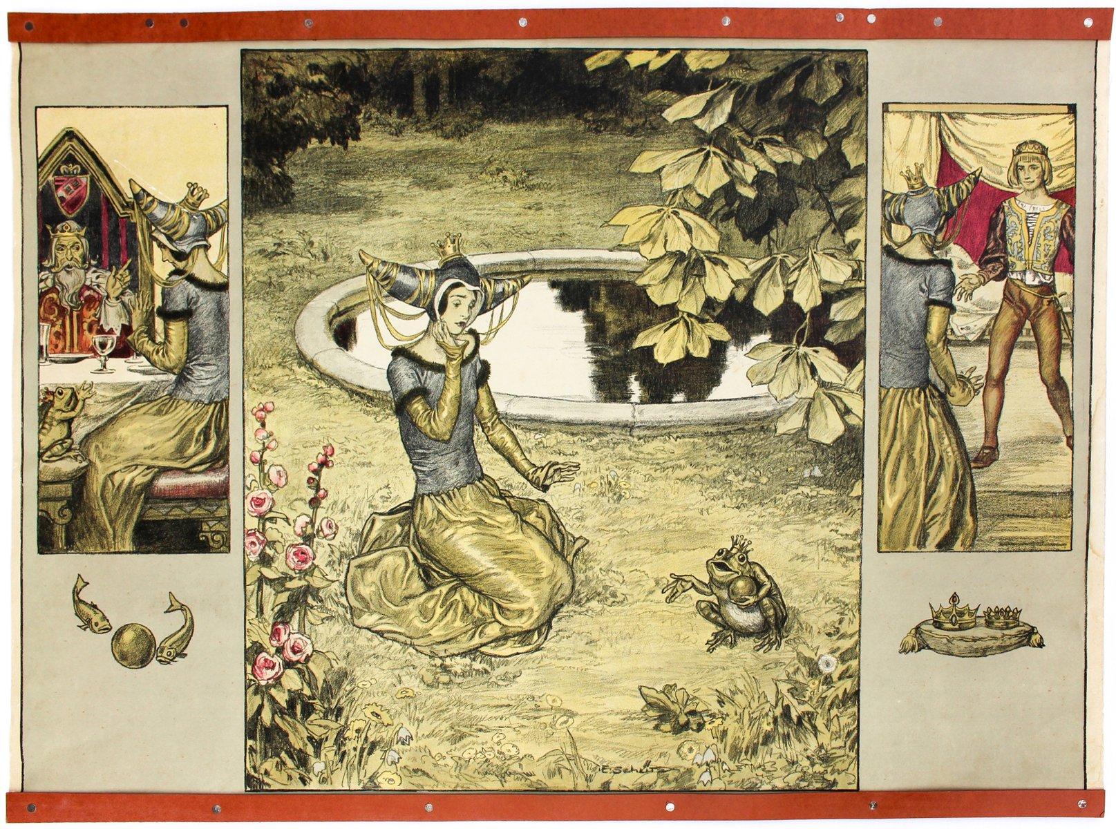 The Frog King Fairy Tale School Wall Chart by E. Schütz, 1929 for ...