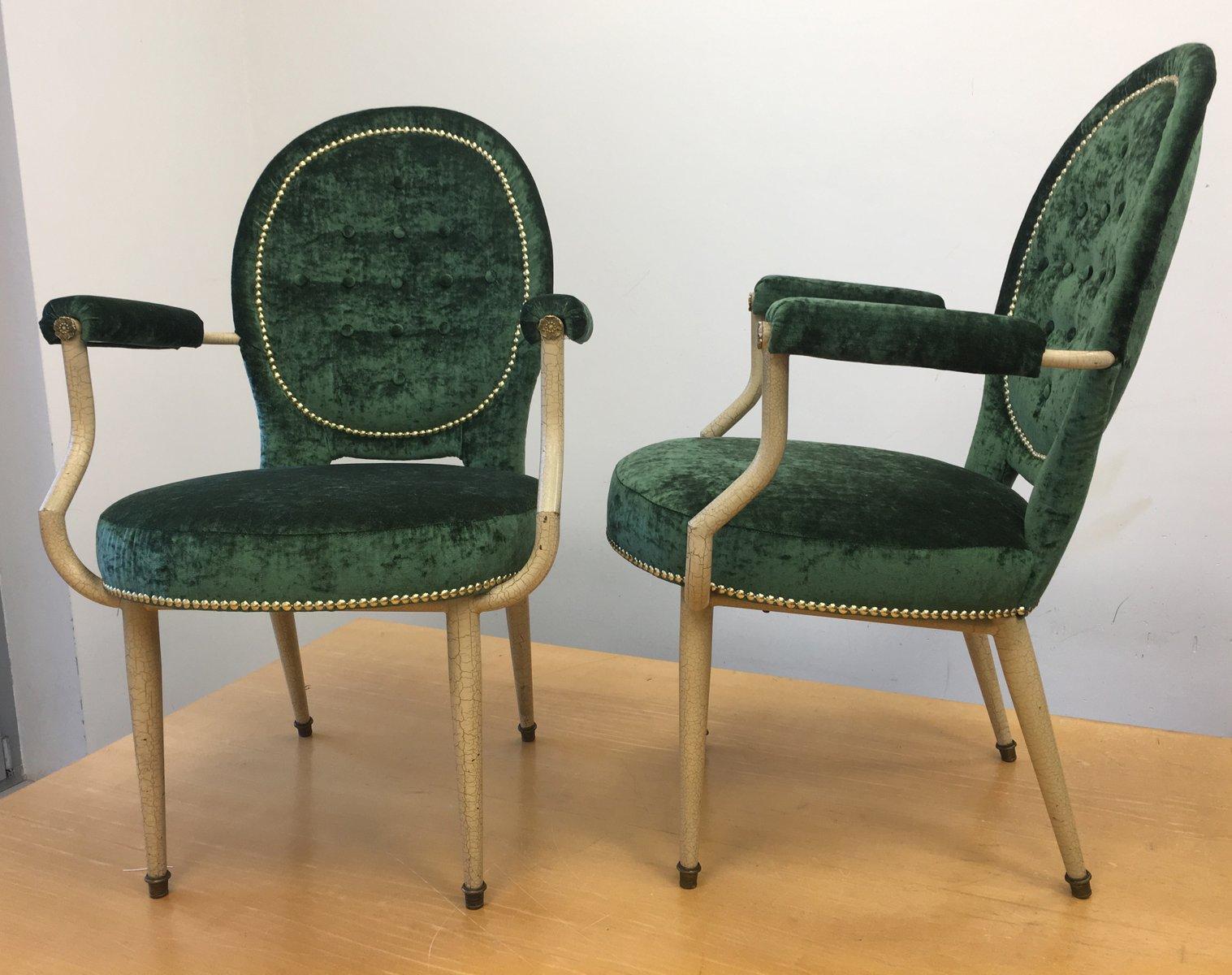 art deco medaillon sessel 2er set bei pamono kaufen. Black Bedroom Furniture Sets. Home Design Ideas
