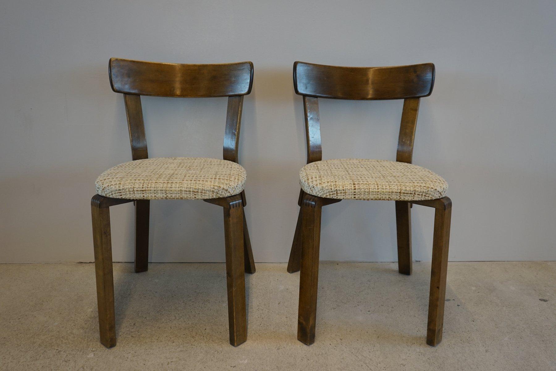 Chaise prewar 69 par alvar aalto pour artek 1940s en for Chaise 1940