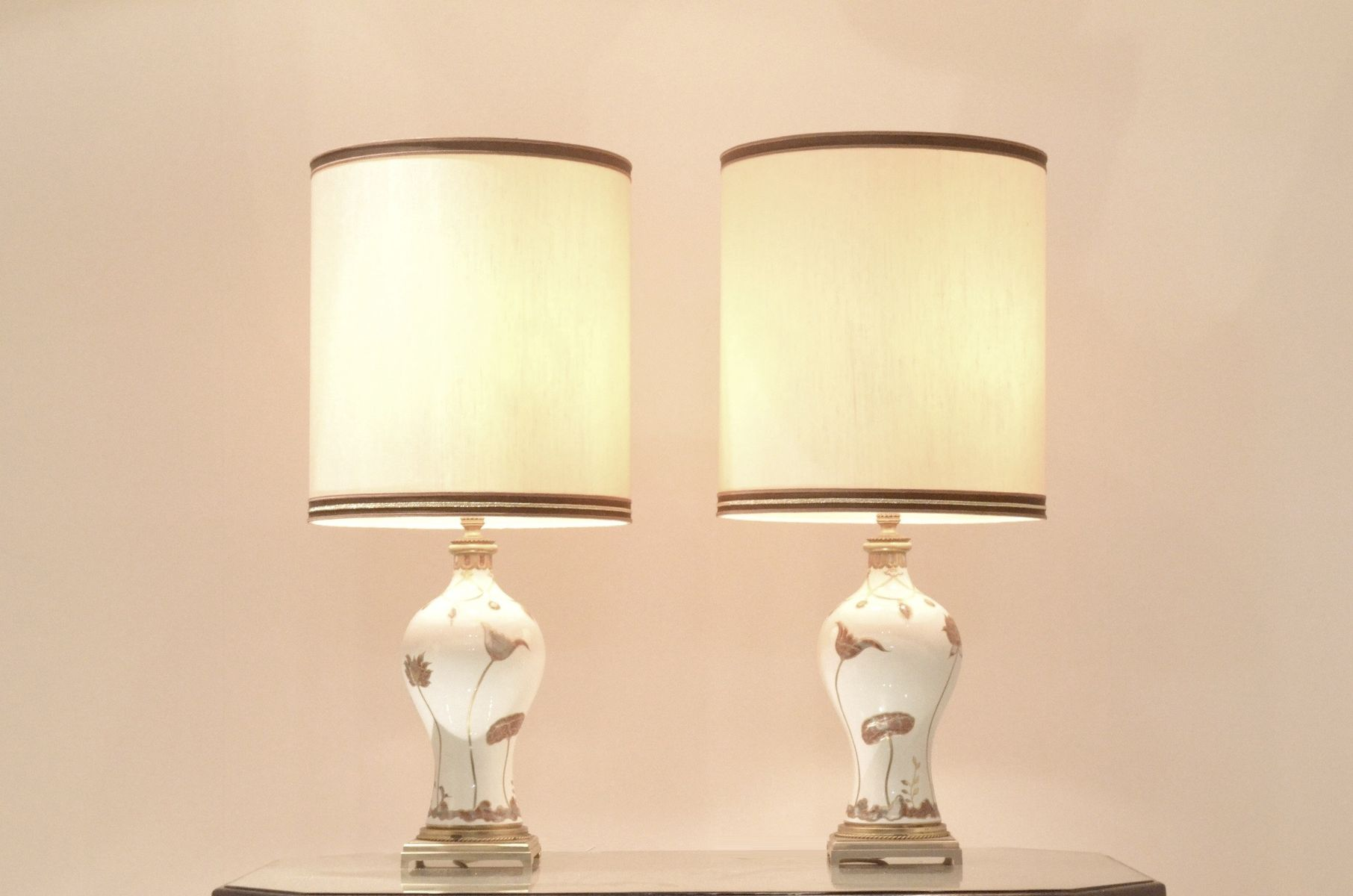 Mid Century French Table Lamps From Porcelaine De Sèvres 1960s Set Of 2
