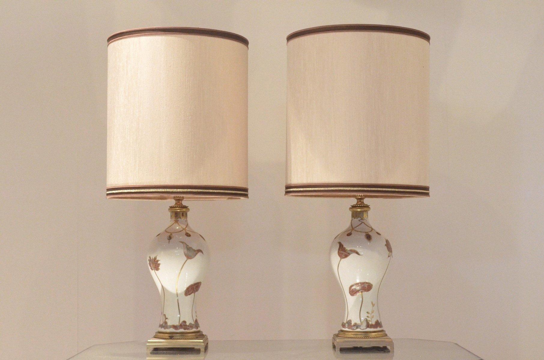 Französische Mid-Century Tischlampen von Porcelaine de Sèvres, 1960er,...