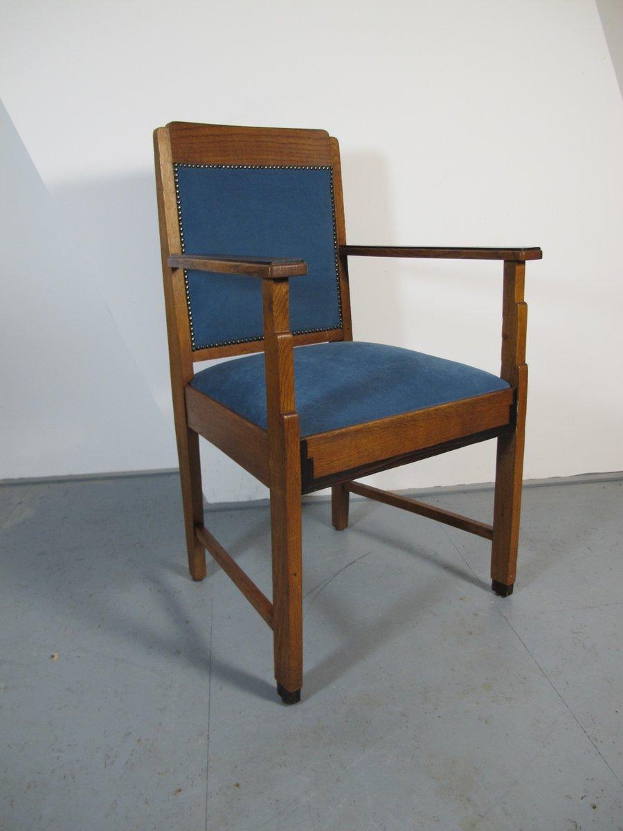 art deco stuhl aus eiche und ebenholz 1920er bei pamono. Black Bedroom Furniture Sets. Home Design Ideas