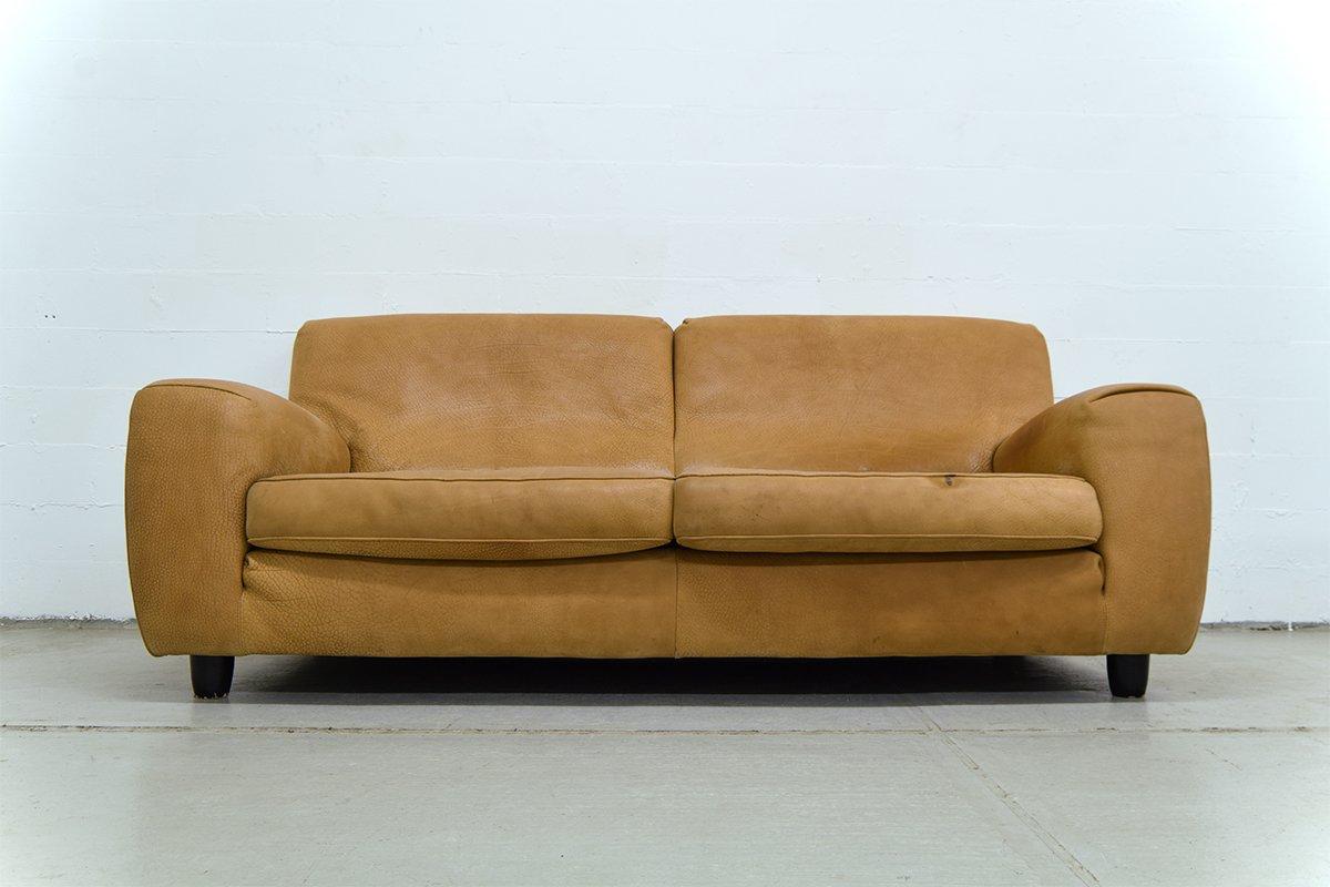 Genial Vintage Italian Leather Sofa From Molinari