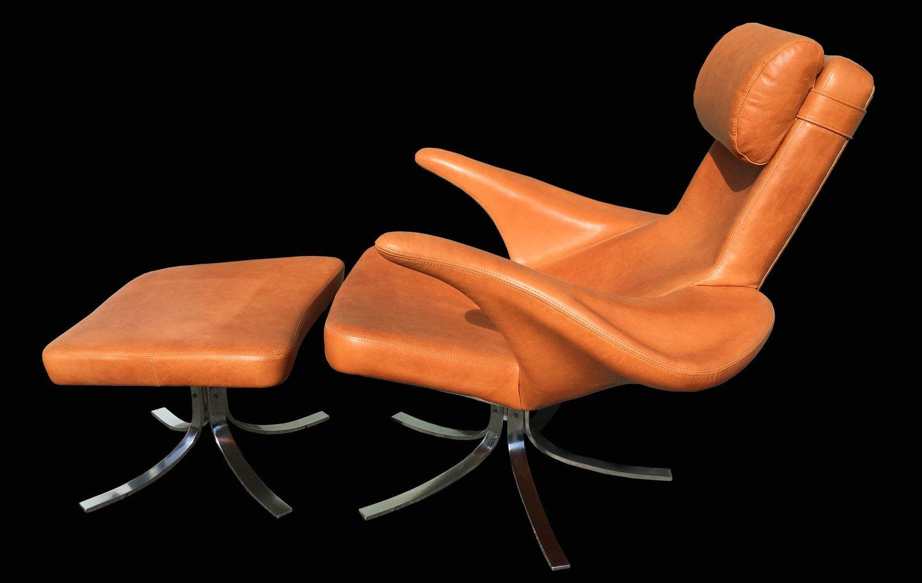 Vintage Seagull Armlehnstuhl und Ottoman von Gosta & Eriksson für Frit...