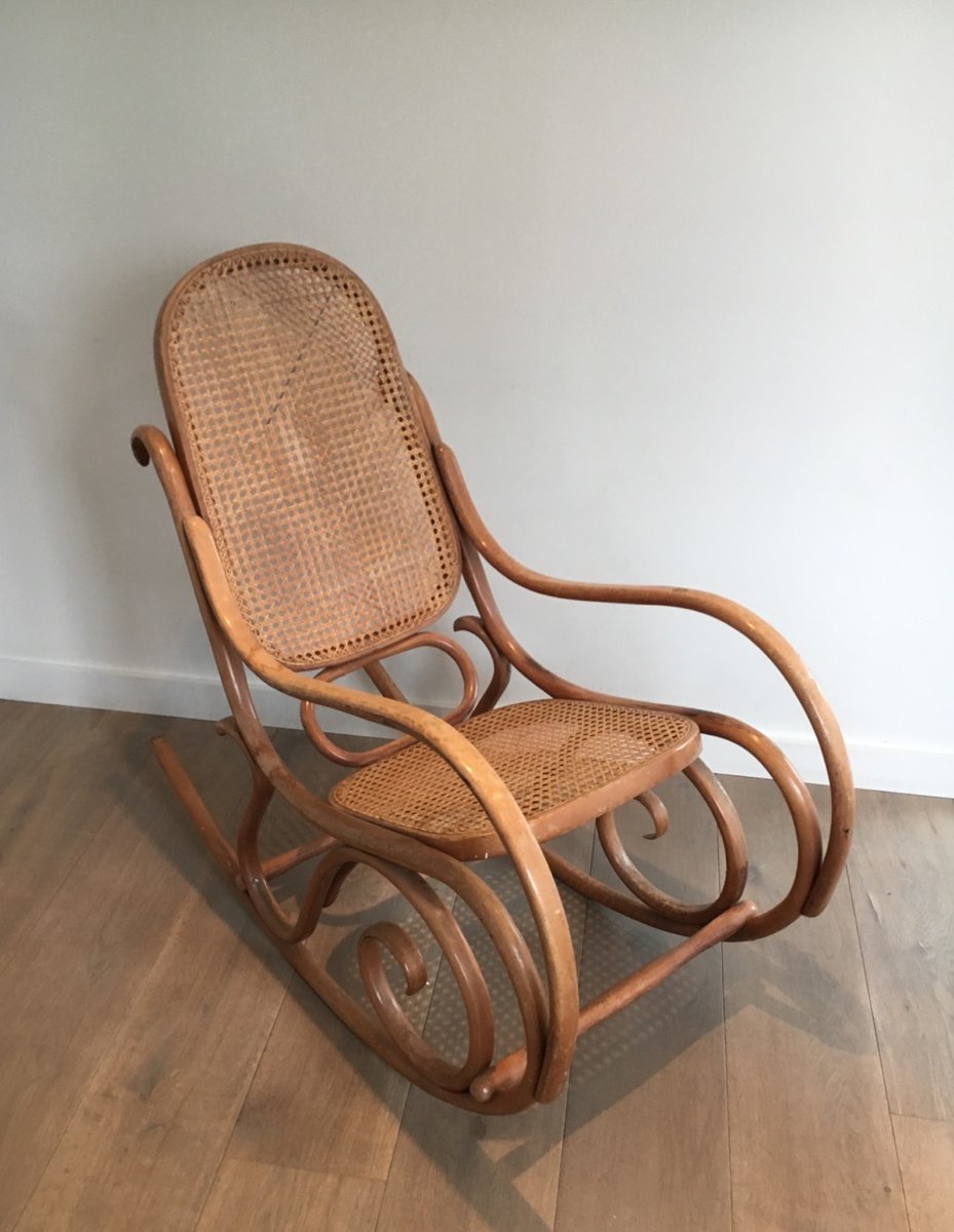 Superbe Vintage Bentwood Rocking Chair, 1970s