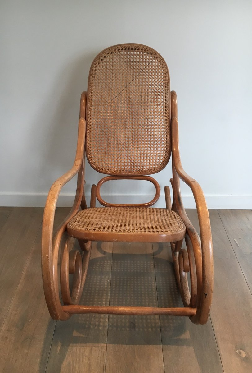Vintage Bentwood Rocking Chair 1970s In Vendita Su Pamono