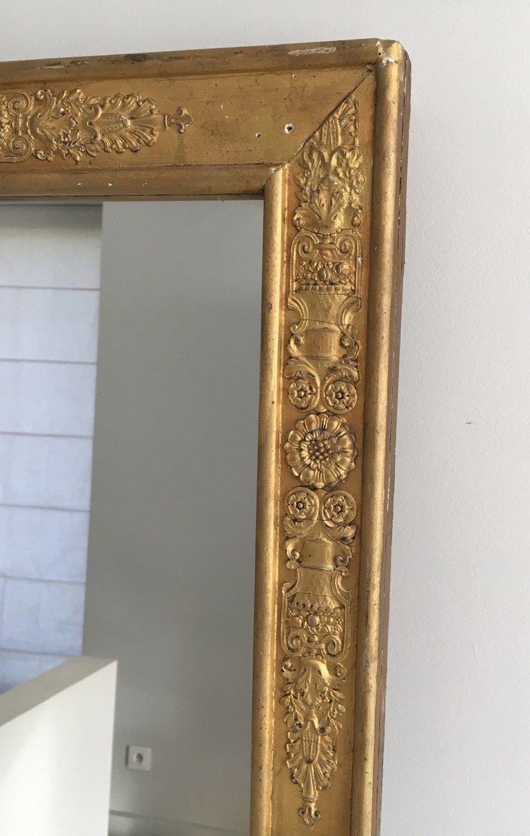 miroir antique empire en bronze dor avec appliques 1850s en vente sur pamono. Black Bedroom Furniture Sets. Home Design Ideas