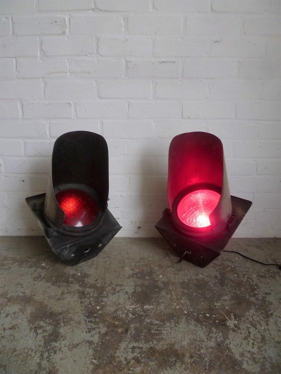 Industrielles Vintage Ampellicht einer Grenze, 2er Set