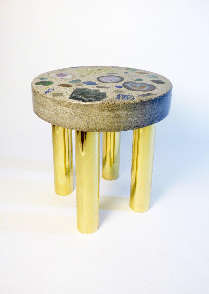 table basse nuage avec inserts en pierres pr cieuses par studio superego en vente sur pamono. Black Bedroom Furniture Sets. Home Design Ideas