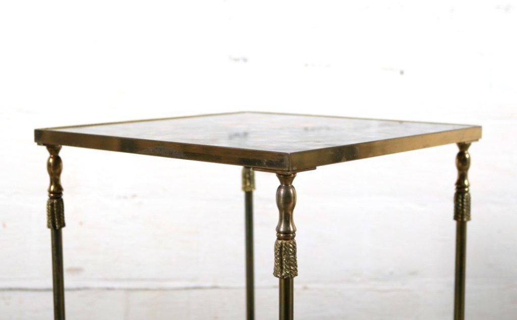 table d 39 appoint vintage en laiton et en verre flamb de maison jansen en vente sur pamono. Black Bedroom Furniture Sets. Home Design Ideas