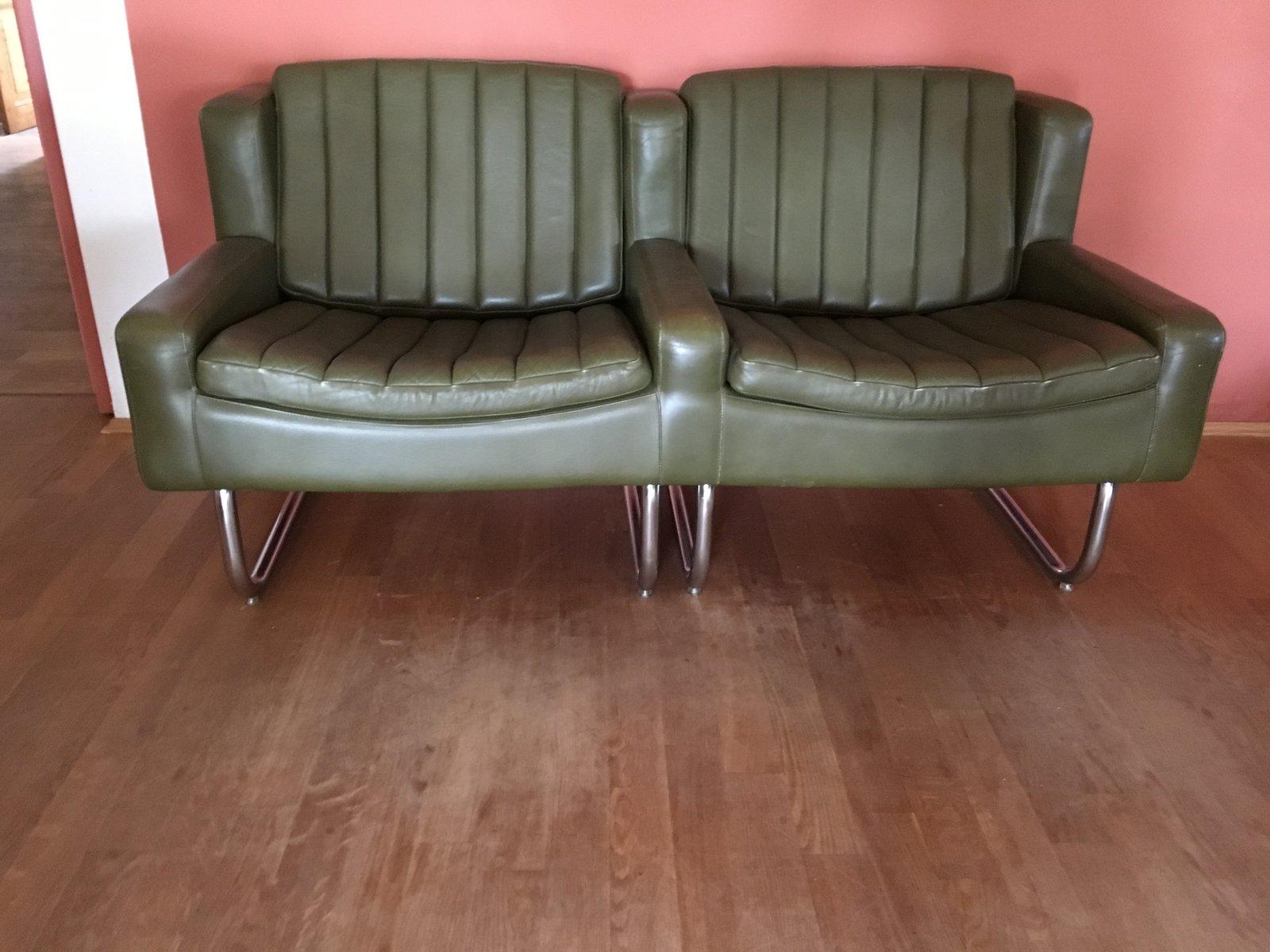 Vintage Freischwinger Sessel & Sofa Set von Asko