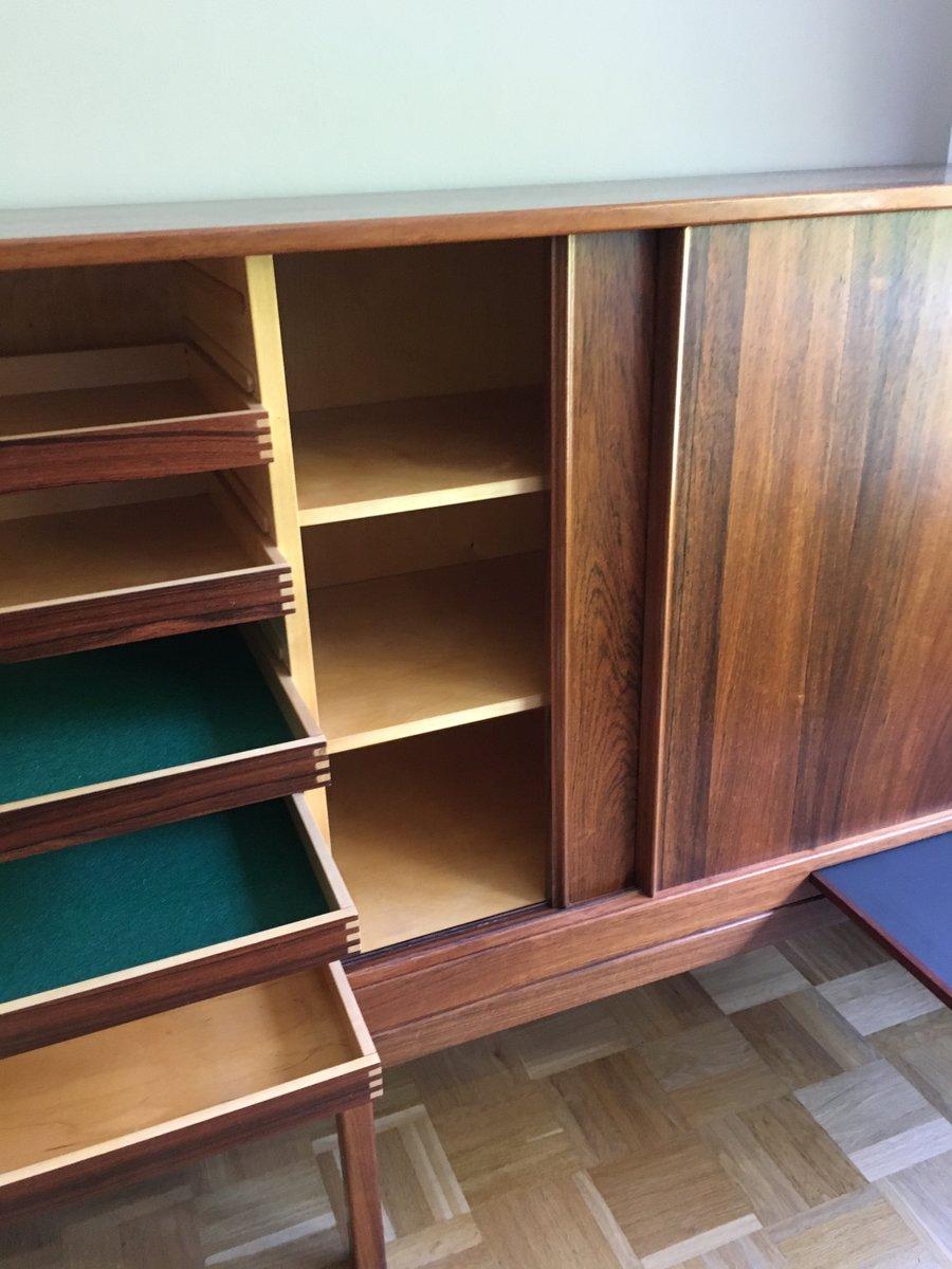 palisander vintage sideboard mit vier schiebet ren vier schubladen bei pamono kaufen. Black Bedroom Furniture Sets. Home Design Ideas