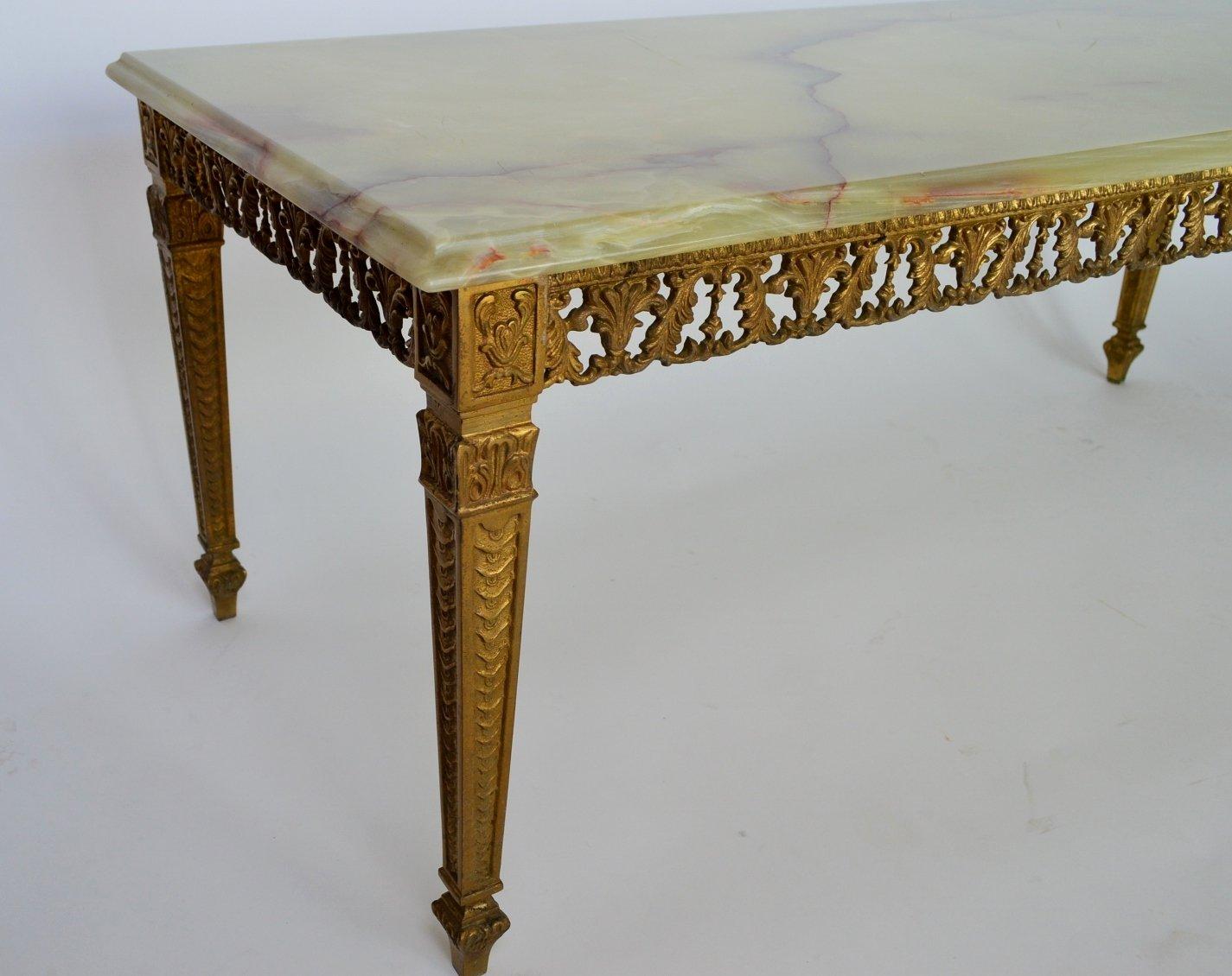 table basse en marbre et en laiton verte 1970s en vente. Black Bedroom Furniture Sets. Home Design Ideas