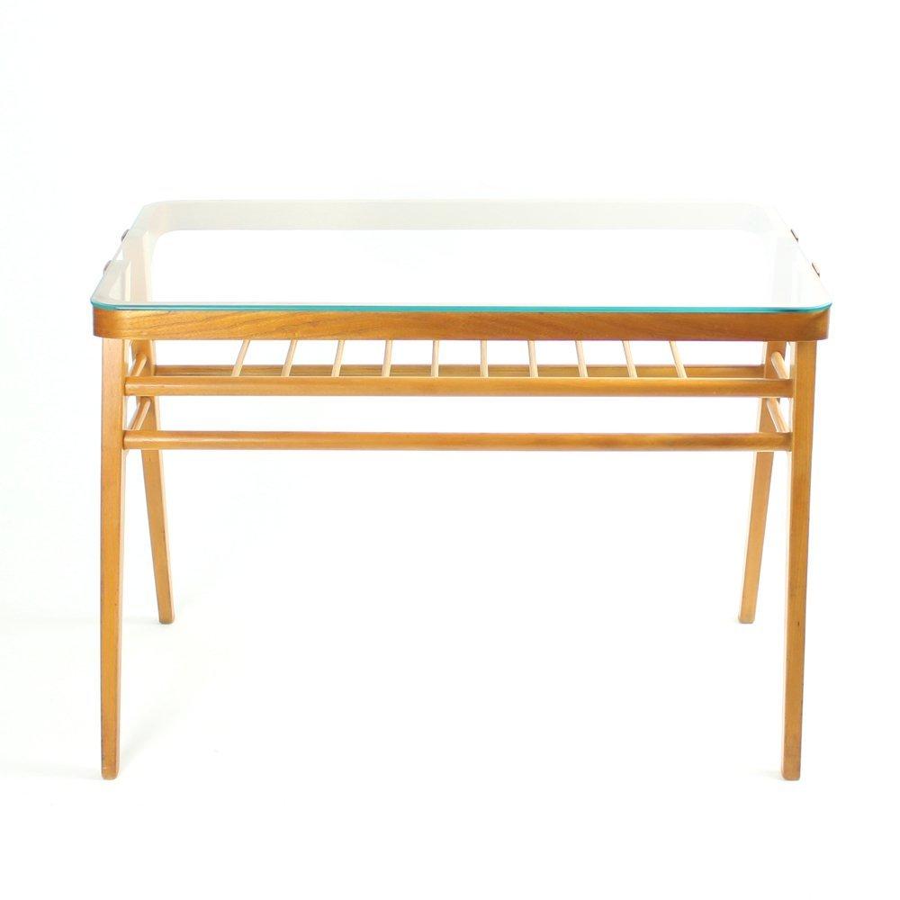 Tschechischer Tisch mit Glasplatte, 1960er