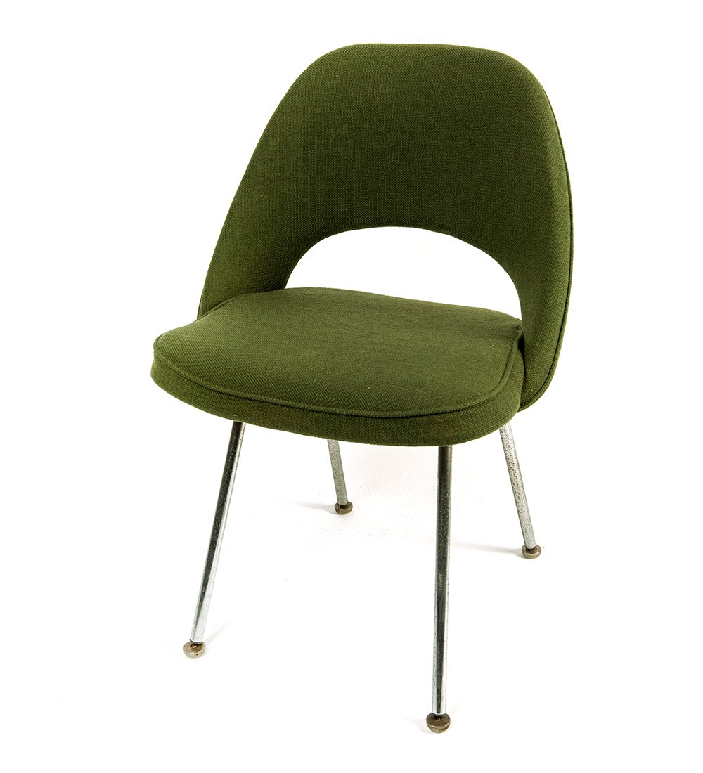 mid century green executive side chair by eero saarinen for knoll 1958 for sale at pamono. Black Bedroom Furniture Sets. Home Design Ideas