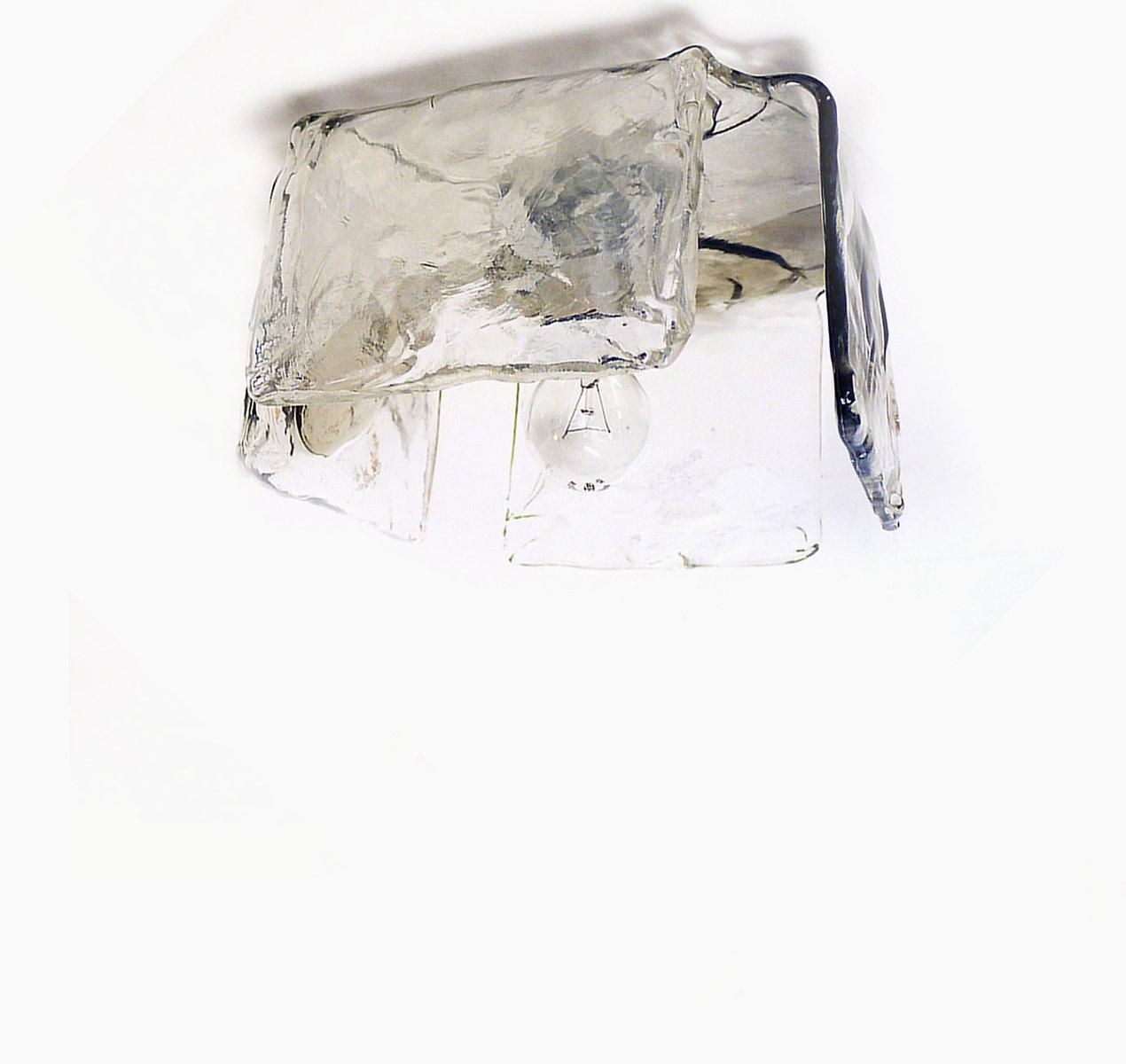 Murano Glas Einbau-Deckenleuchte von J.T. Kalmar, 1960er