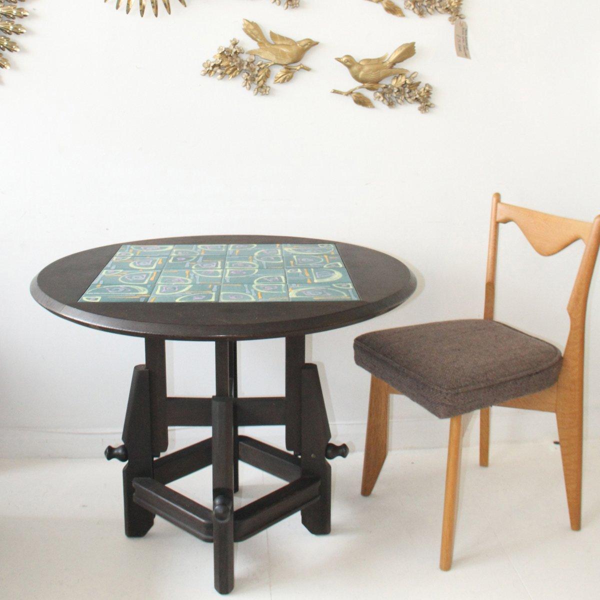 Verstellbarer Eiche Tisch von Guillerme et Chambron für Votra Maison, ...