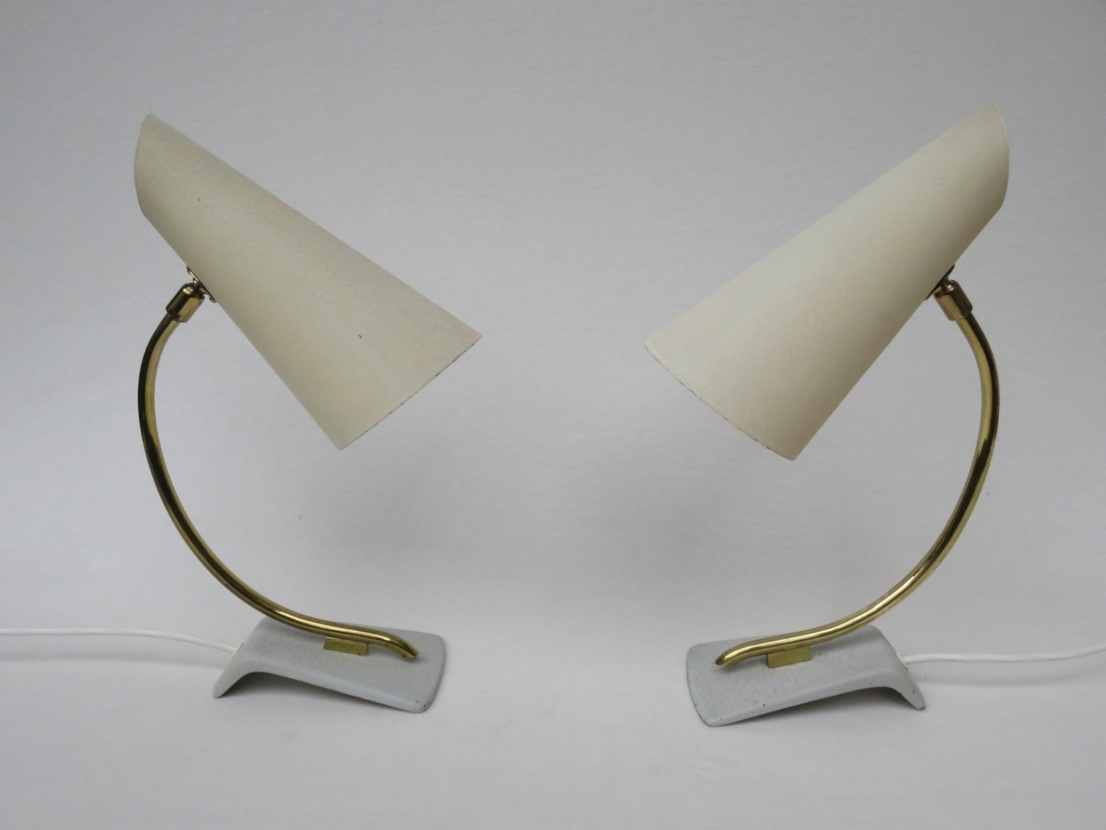 Italienische Nachttischleuchten, 1950er, 2er Set