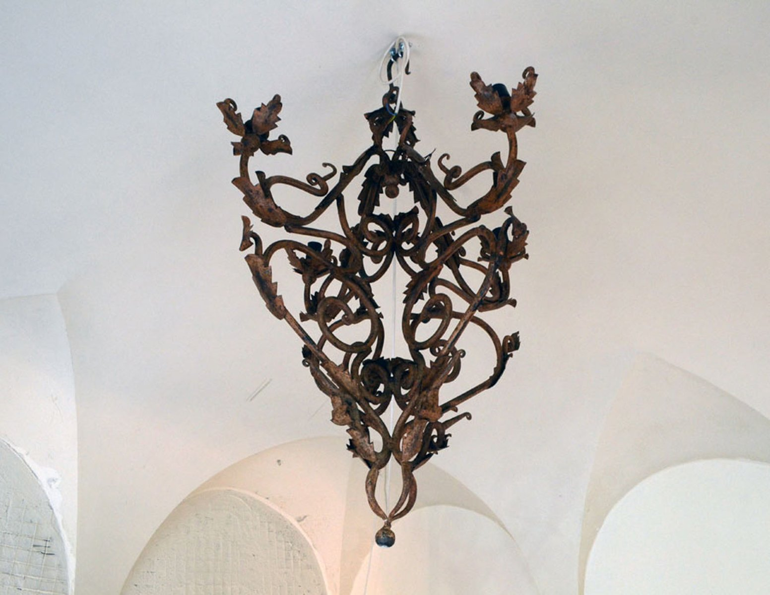 Hand made wrought iron chandelier 1800s for sale at pamono hand made wrought iron chandelier 1800s aloadofball Gallery