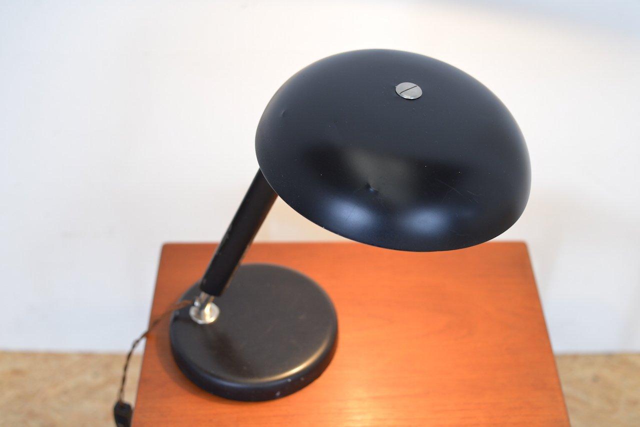 Lampe de bureau design articulée tony grise en métal et bois