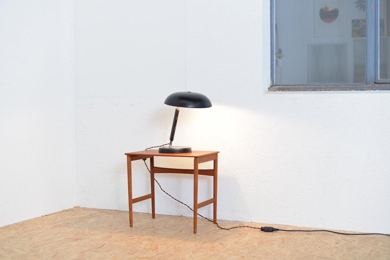 schweizer vintage tischlampe aus metall holz bei pamono kaufen. Black Bedroom Furniture Sets. Home Design Ideas