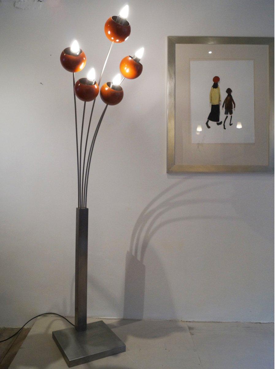 gebogene italienische stehlampe 1970er bei pamono kaufen. Black Bedroom Furniture Sets. Home Design Ideas