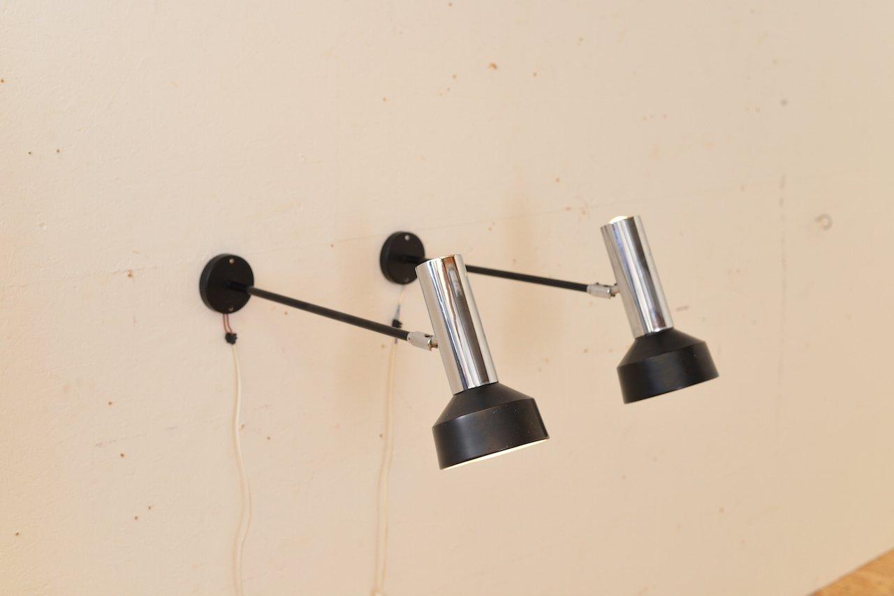 Vintage Wandarmlampen von Raak, 2er Set