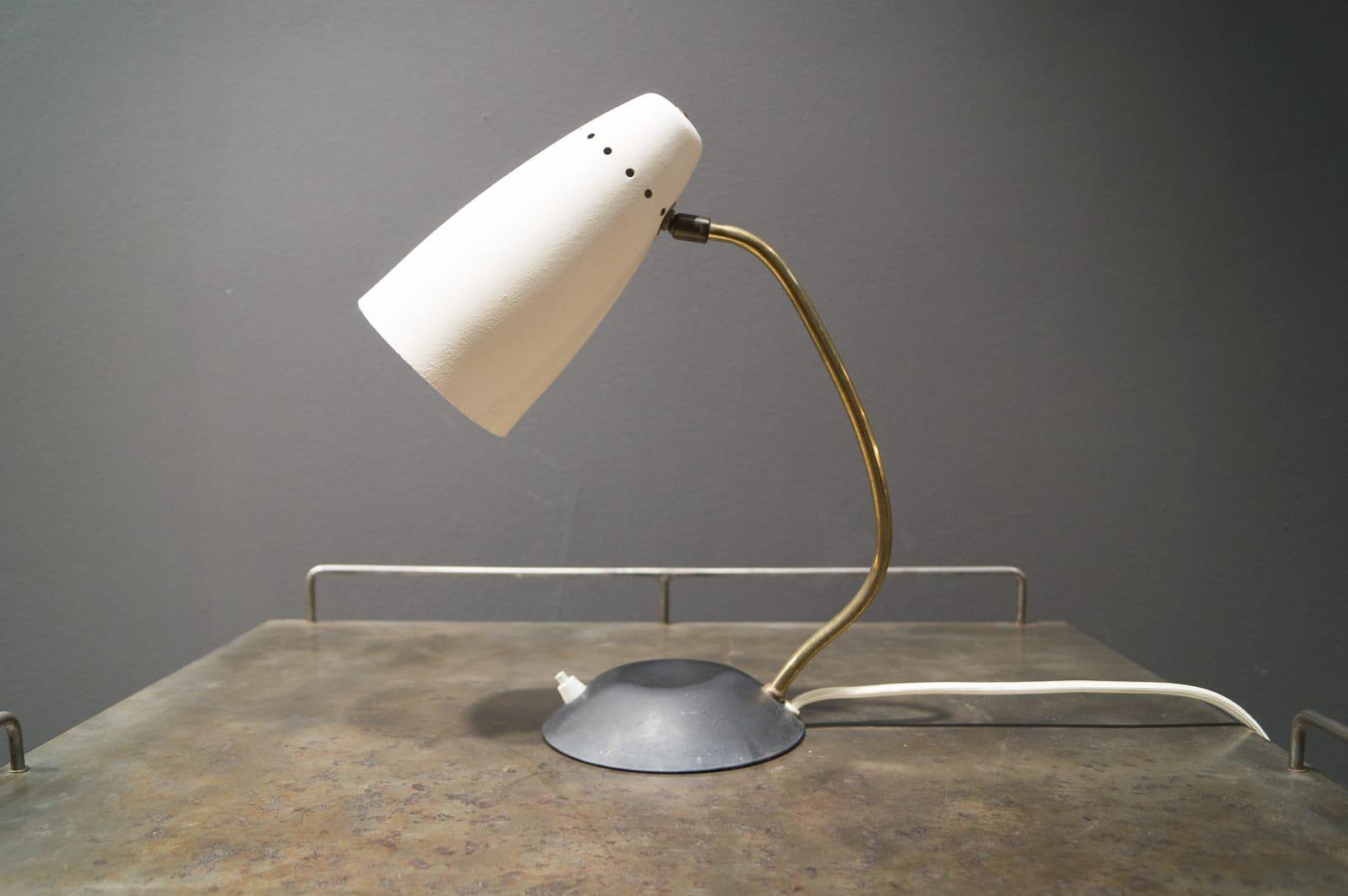 Kleine Italienische Bogen Schreibtischlampe, 1950er