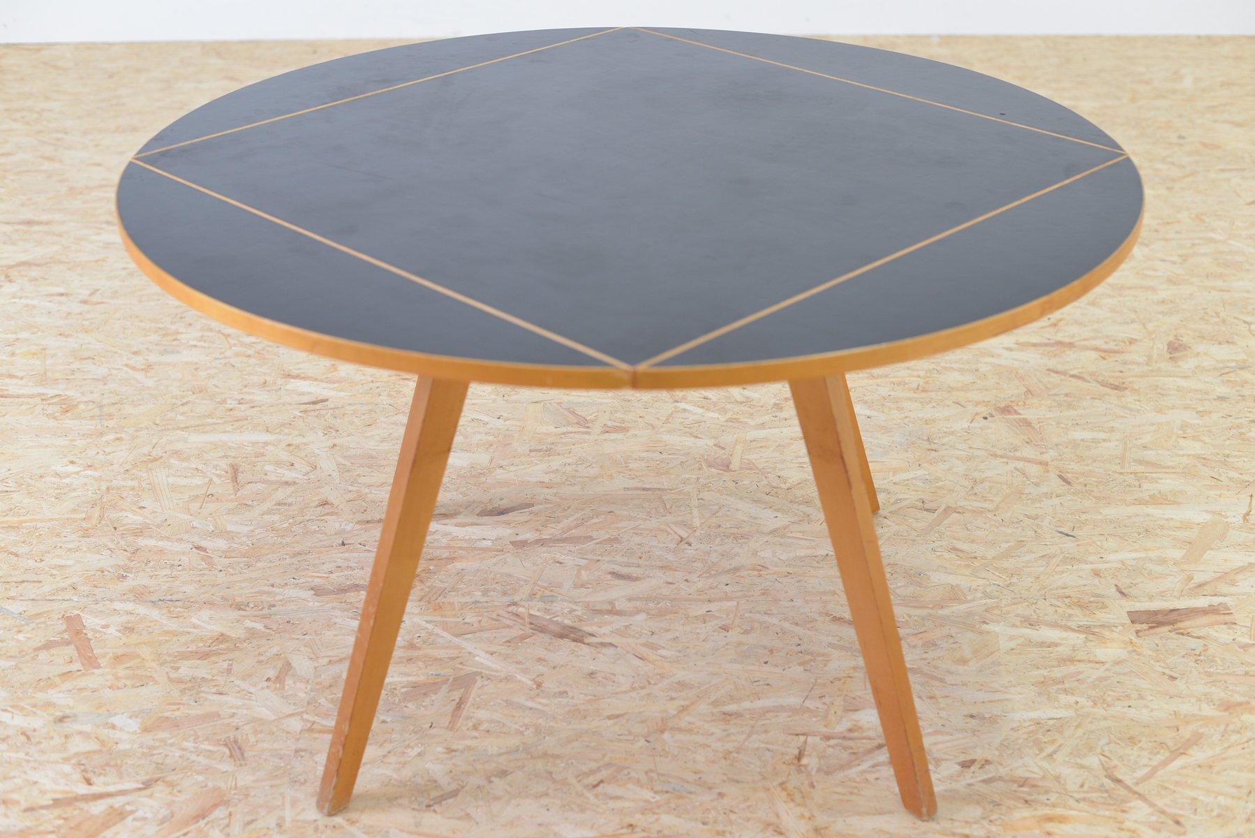 Vintage quadratrund tisch von max bill f r horgen glarus for Tisch billig