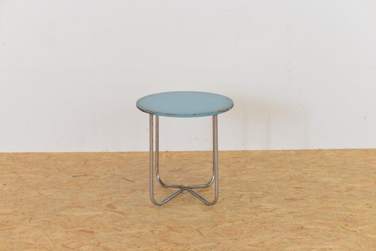 table d 39 appoint vintage bleu en acier tubulair en vente sur pamono. Black Bedroom Furniture Sets. Home Design Ideas