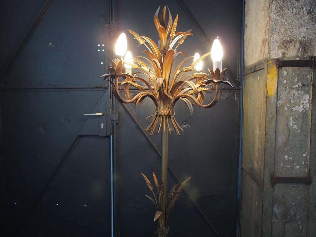 italienische vintage stehlampe in weizen optik bei pamono kaufen. Black Bedroom Furniture Sets. Home Design Ideas