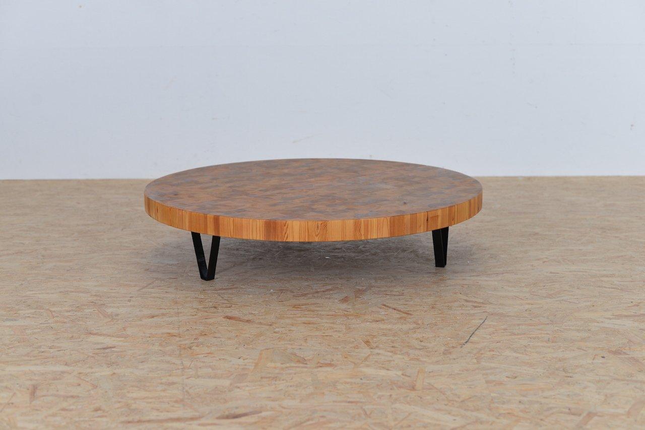 Mid-Century Holz Intarsie Couchtisch