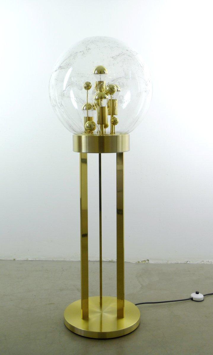 Deutsche Mid-Century Messing Stehlampe von Doria, 1960er