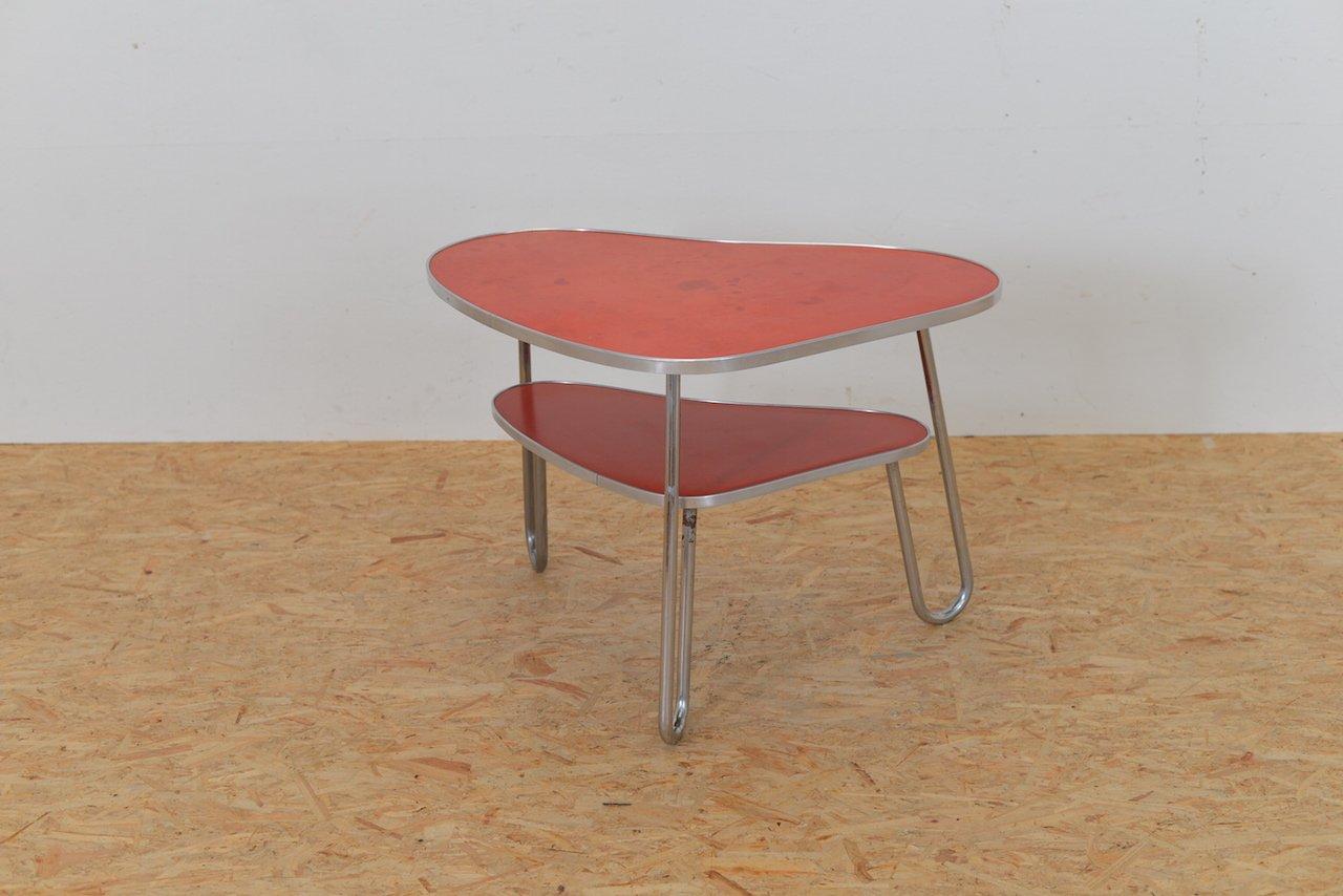 table basse vintage rouge kidney en vente sur pamono. Black Bedroom Furniture Sets. Home Design Ideas