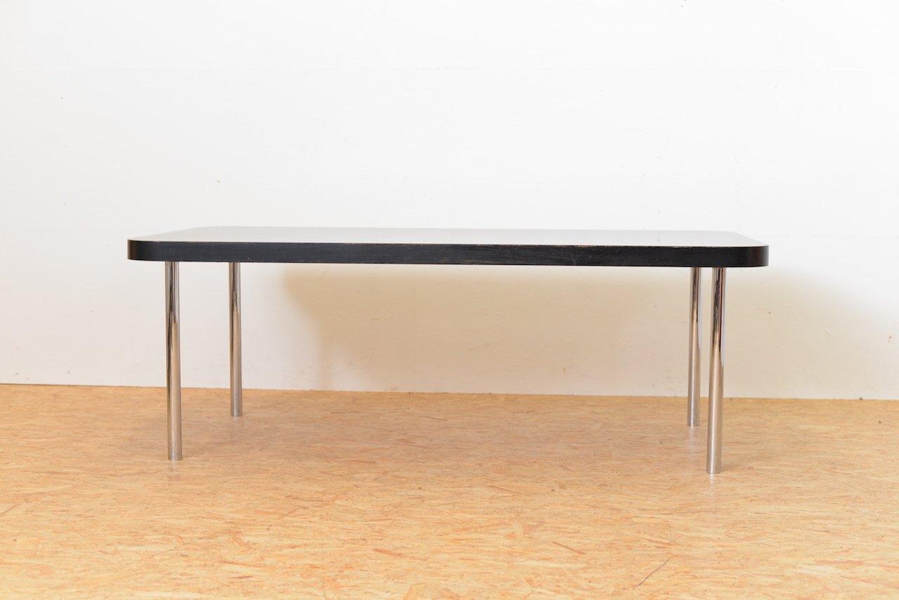 Schwarzer Vintage Tisch von Marcel Breuer für Embru / Wohnbedarf