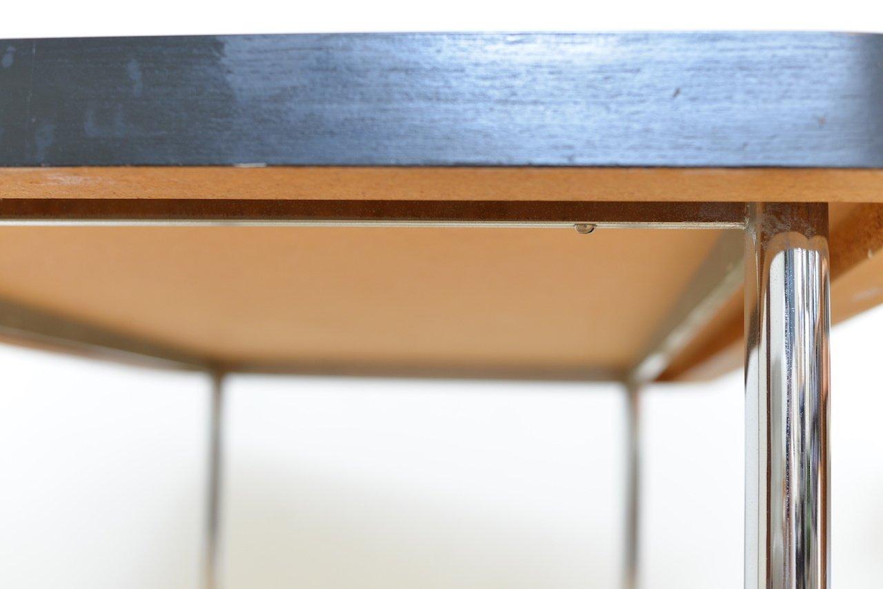 schwarzer vintage tisch von marcel breuer f r embru. Black Bedroom Furniture Sets. Home Design Ideas